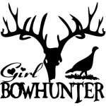 Girl Bowhunter Sticker