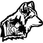 2 Wolfs Sticker