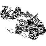 ATV Riders Sticker 67