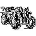 ATV Rider Sticker