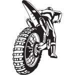 Dirt Bike Sticker 202