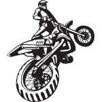 Dirt Bike Sticker 208