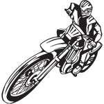 Dirt Bike Sticker 209