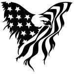 Eagle Flag Sticker Decal