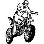 Dirt Bike 2 Sticker