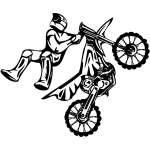 Dirt Bike 3 Sticker