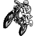 Dirt Bike 8 Sticker