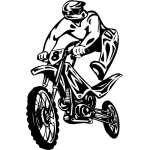 Dirt Bike 10 Sticker