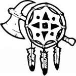 Native American Tomahawk Sticker 8