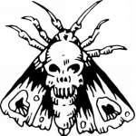 Native American Skull Sticker 6