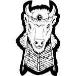Native American Buffalo Headdress Sticker