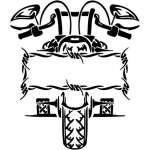 Tribal Bike Sticker 32