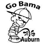 Go Bama Pee on Auburn Sticker