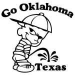 Oklahoma Pee On Texas Sticker