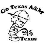 Texas A&M Pee On Texas Sticker