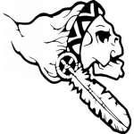 Native American Skull Sticker 12