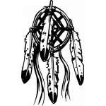 Native American Dreamcatcher Sticker 7