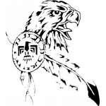 Native American Eagle Sticker 2