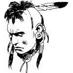 Native American Sticker 72