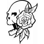 Native American Skull Sticker 17