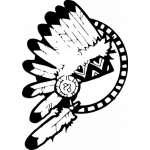 Native American Headdress Sticker 3