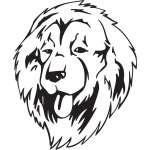 Caucasian Shepherd Dog Sticker