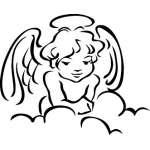 Angel Sticker 1123