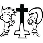 Cross Sticker  2221