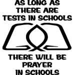 Prayer in School Sticker 4210