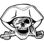 Skull 30 Sticker