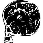 Cyber Skull Sticker 3