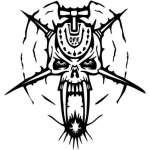 Cyber Skull Sticker 4