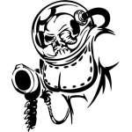 Cyber Skull Sticker 6