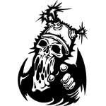 Cyber Skull Sticker 11