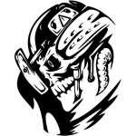 Cyber Skull Sticker 17