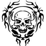 Cyber Skull Sticker 54