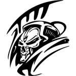 Cyber Skull Sticker 63