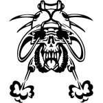 Cyber Skull Sticker 67