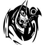 Cyber Skull Sticker 68