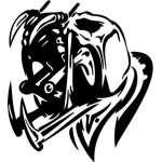 Cyber Skull Sticker 81