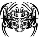 Cyber Skull Sticker 100