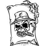 Skull Sticker 267