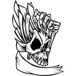 Skull Sticker 291