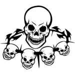 Skull Sticker 319
