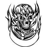 Flaming Skull Sticker 40