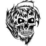 Flaming Skull Sticker 50