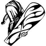 Extreme Snowboarder Sticker 2005