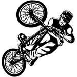 Extreme BMX Rider Sticker 2034