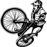 Extreme BMX Rider Sticker 2041