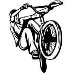 Extreme BMX Rider Sticker 2042